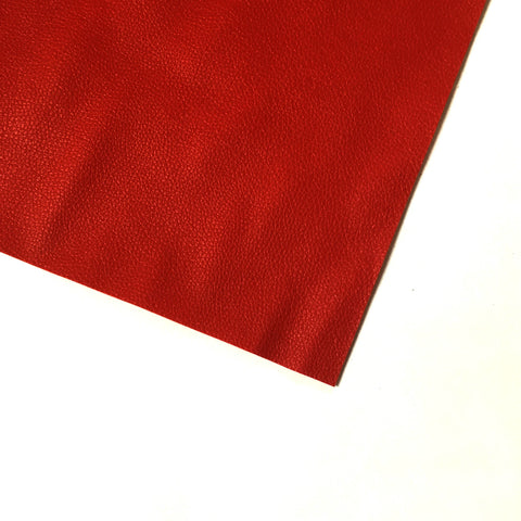 Pebble Faux Leather Pleather Fabric - Red