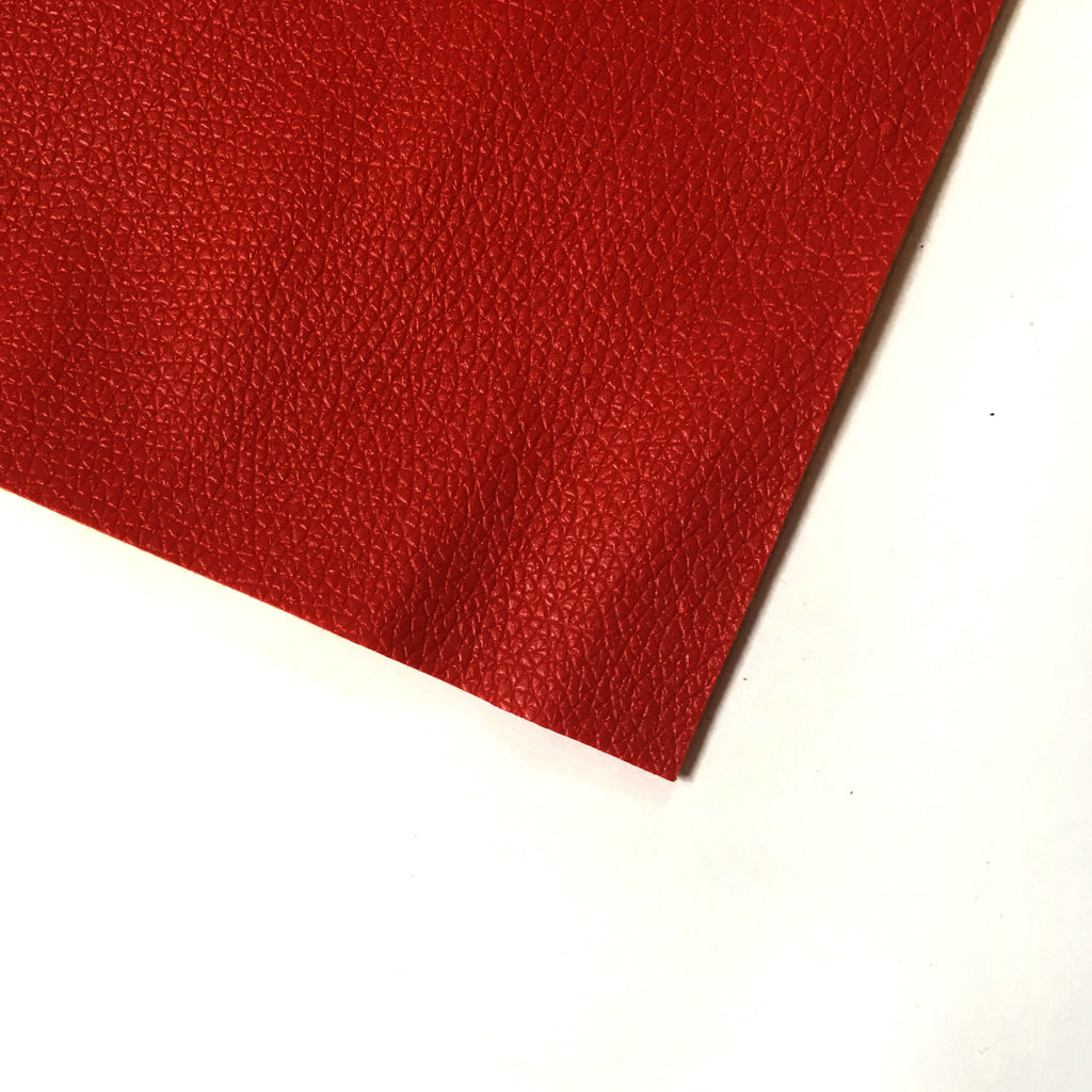Pebble Faux Leather Pleather Fabric - Red, Pleather- Lumin's Workshop