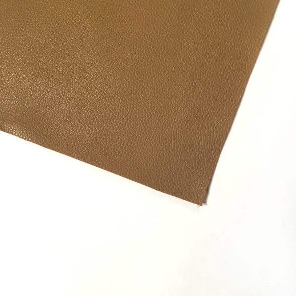 Pebble Faux Leather Pleather Fabric - Tan, Pleather- Lumin's Workshop