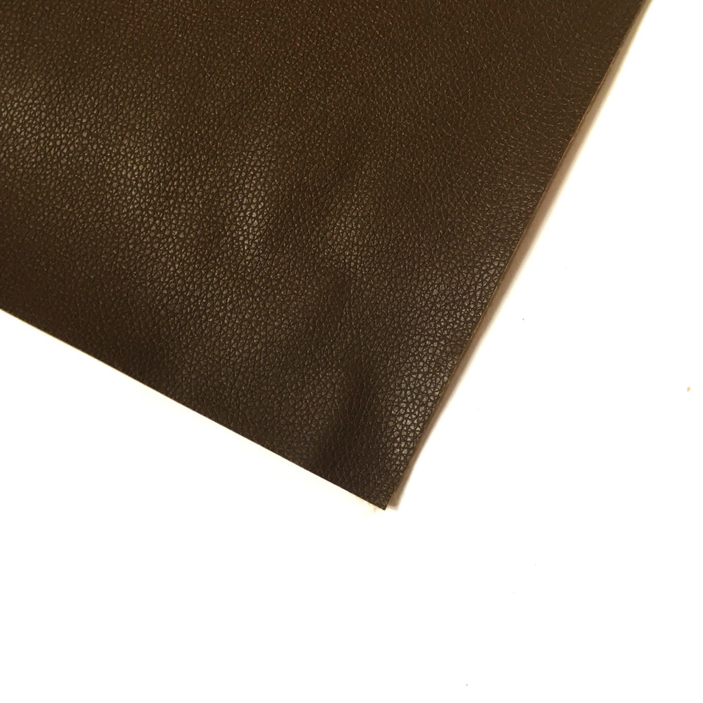 Pebble Faux Leather Pleather Fabric - Cherry Chocolate Brown, Pleather- Lumin's Workshop