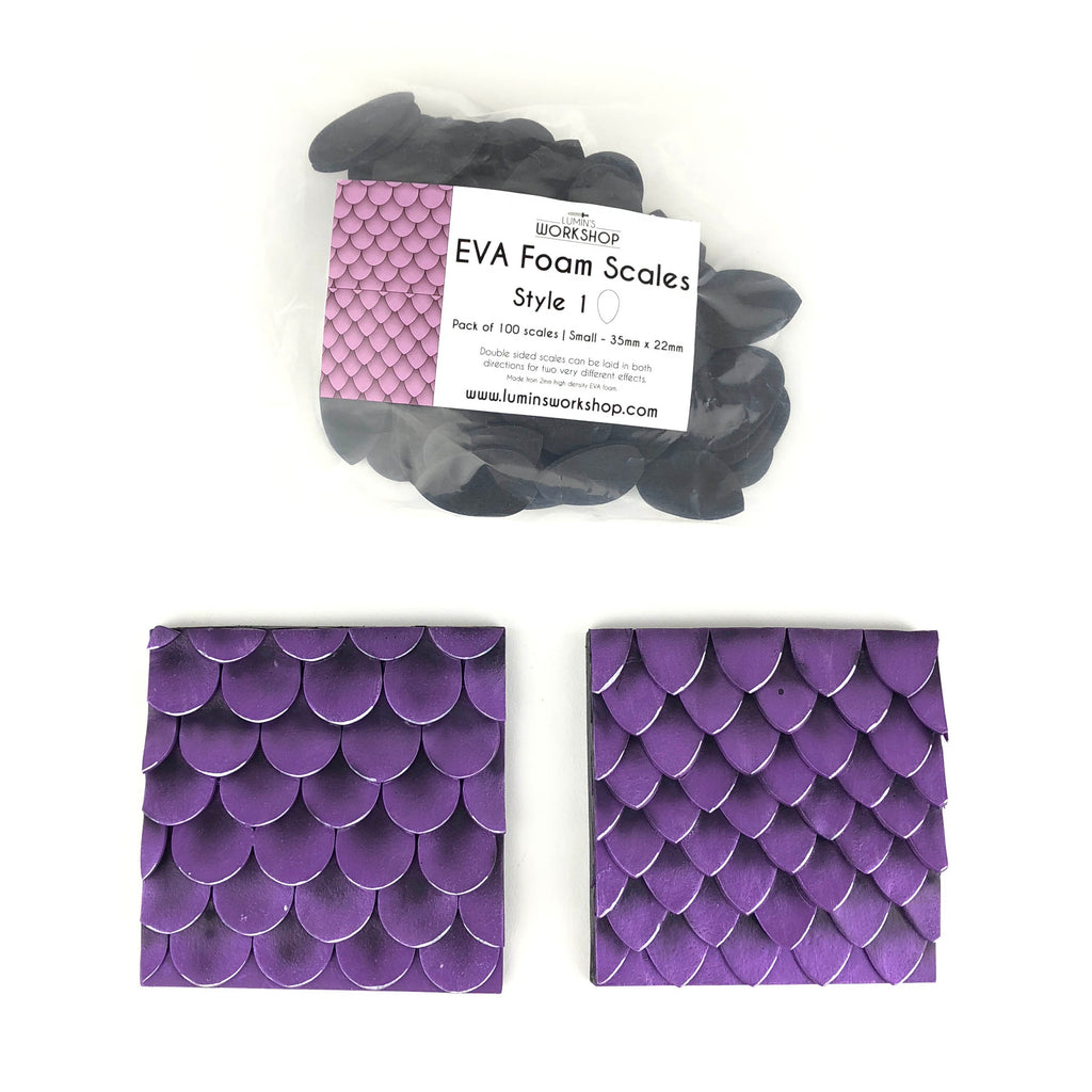 EVA Foam Scales - Style 1 - 100pk - (Available in 2 sizes), Eva foam scales- Lumin's Workshop