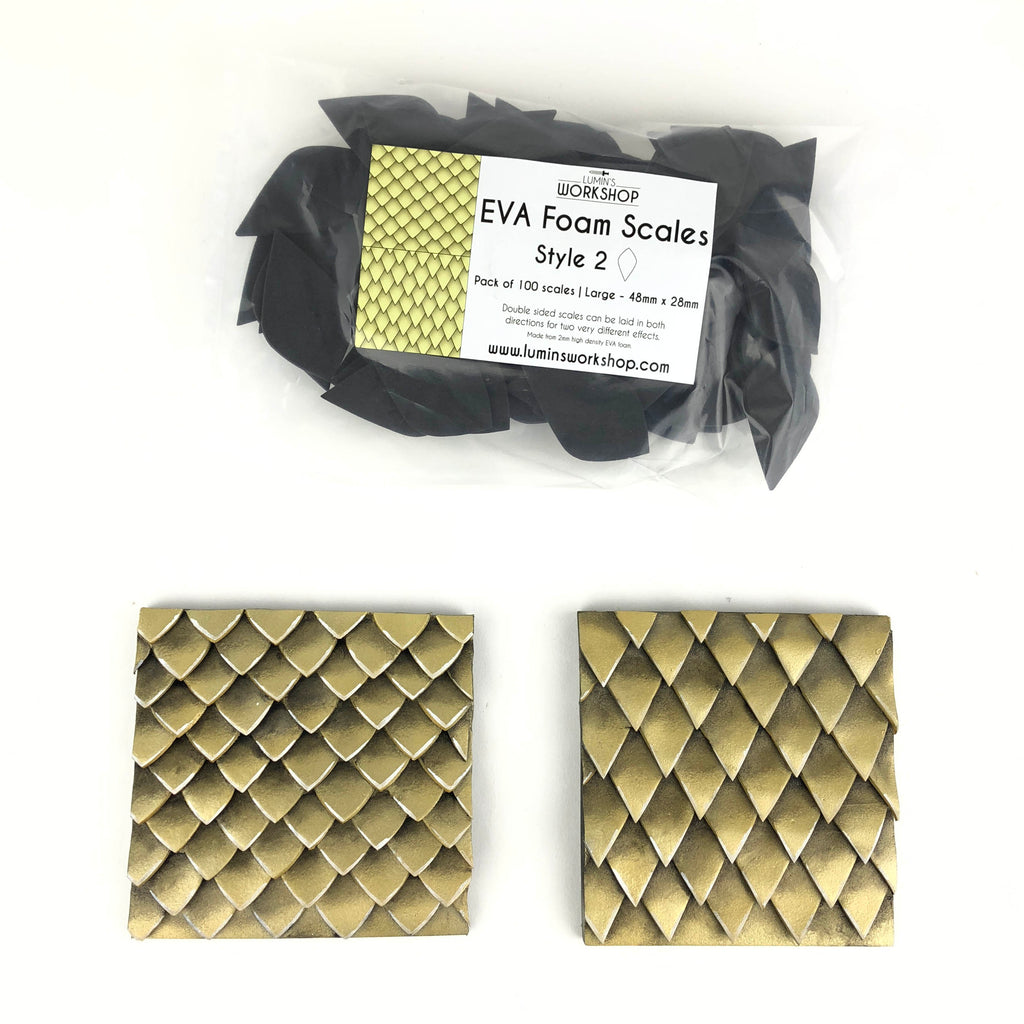 EVA Foam Scales - Style 2 - 100pk - (Available in 2 sizes), Eva foam scales- Lumin's Workshop