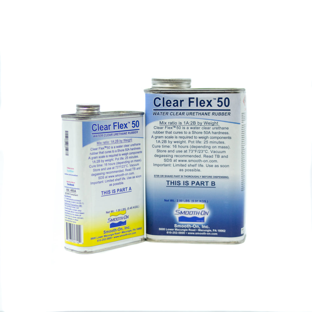 Clear Flex 50 - Trial Kit 1.36kg, resin- Lumin's Workshop
