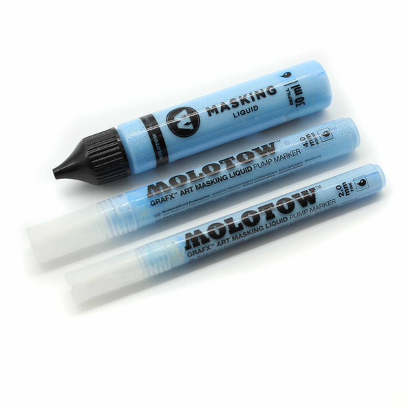 Molotow Grafx Art Masking Liquid Marker & Refill, Paint- Lumin's Workshop