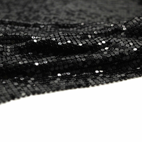 Metal Mesh Fabric - Black