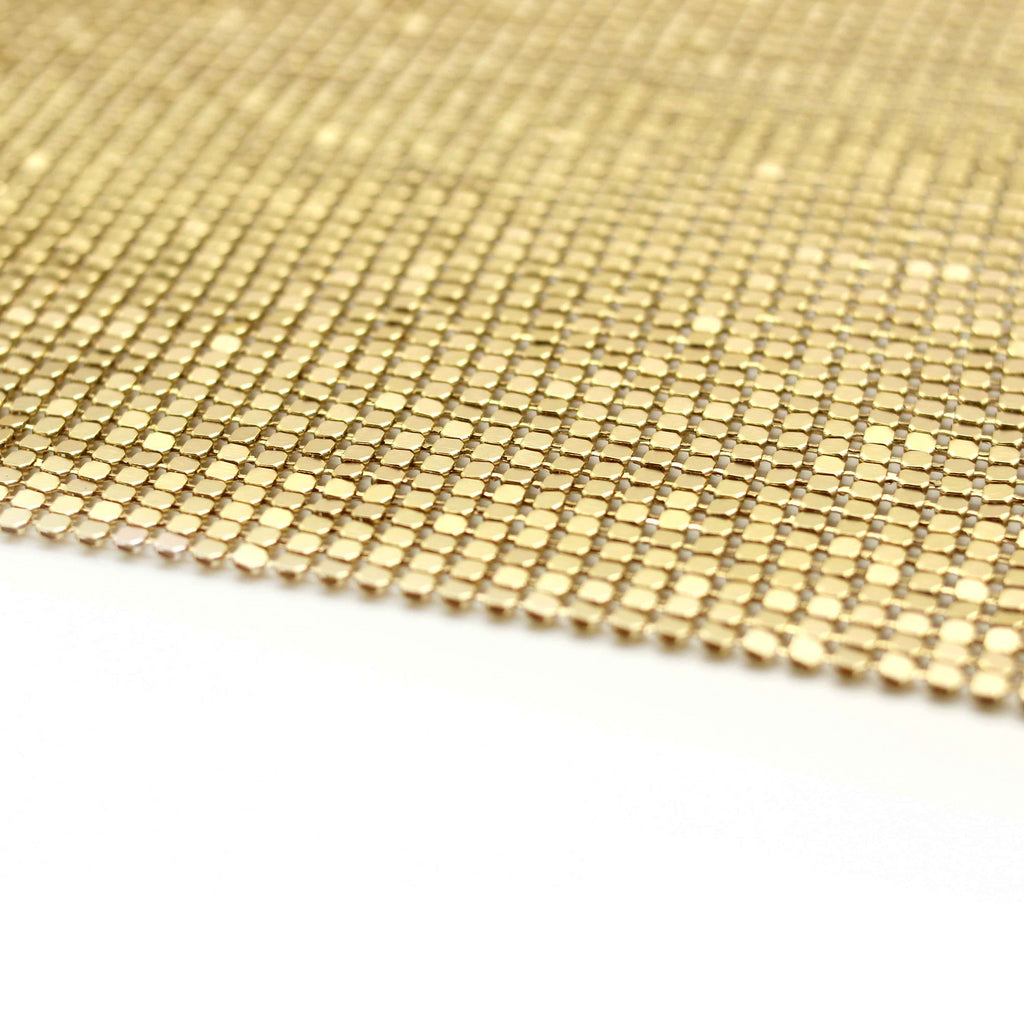Metal Mesh Fabric - Gold