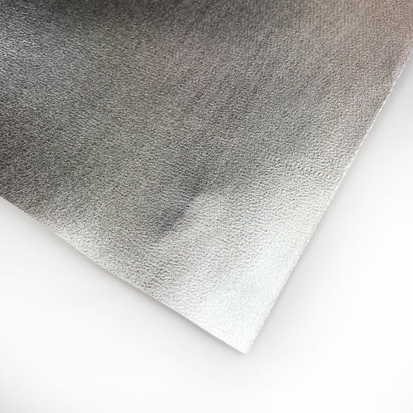 Metallic Faux Leather Vinyl - Silver, metallic pleather- Lumin's Workshop
