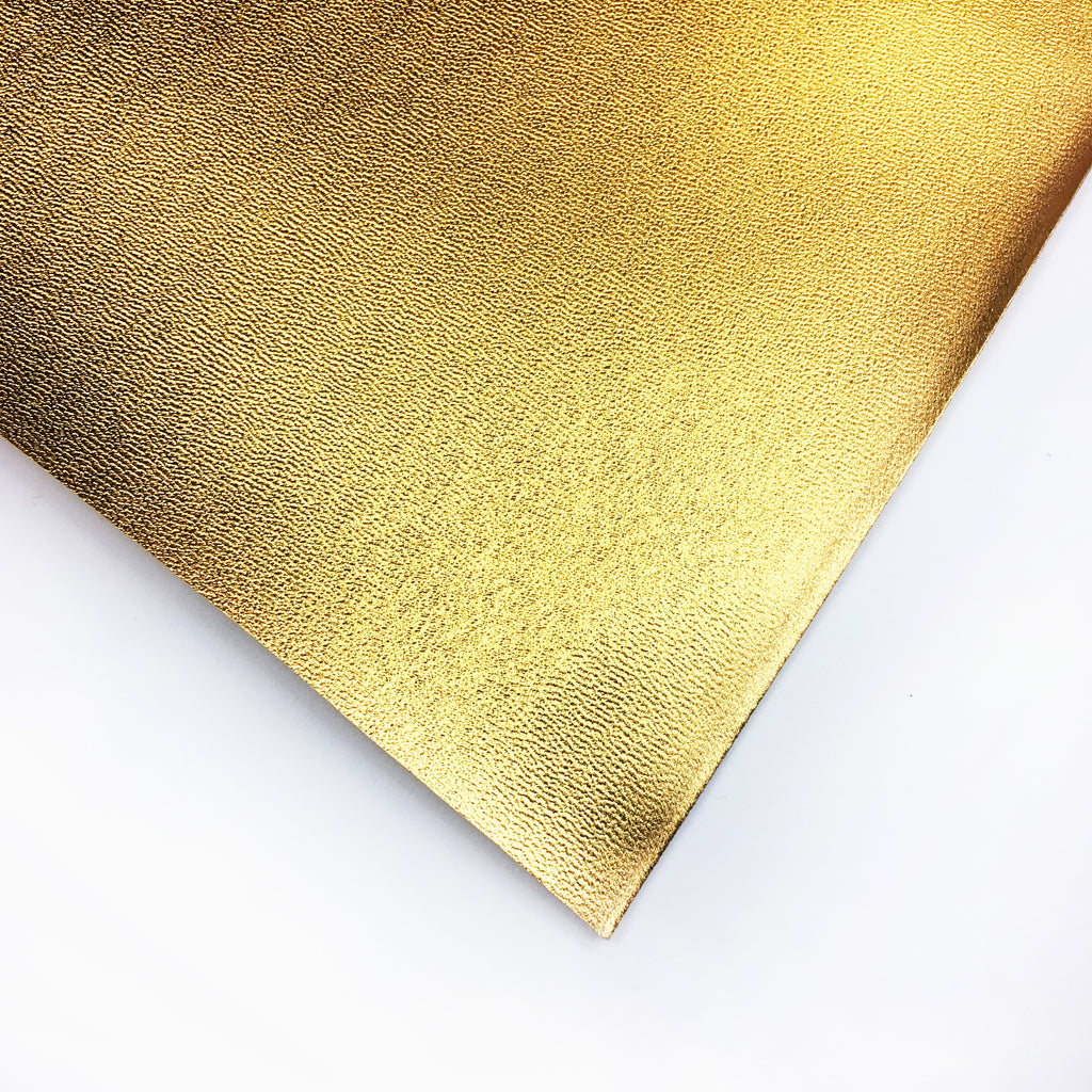 Metallic Faux Leather Vinyl - Gold, metallic pleather- Lumin's Workshop