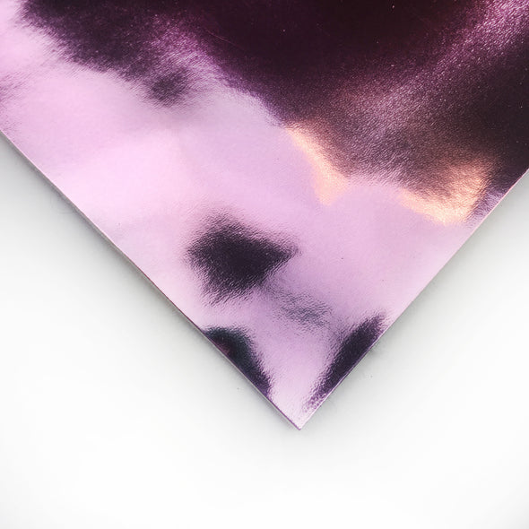 Super Chrome Metallic Vinyl fabric - Pink, metallic vinyl- Lumin's Workshop