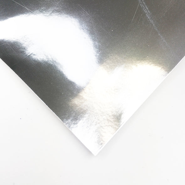 Super Chrome Metallic Vinyl fabric - Silver, metallic vinyl- Lumin's Workshop