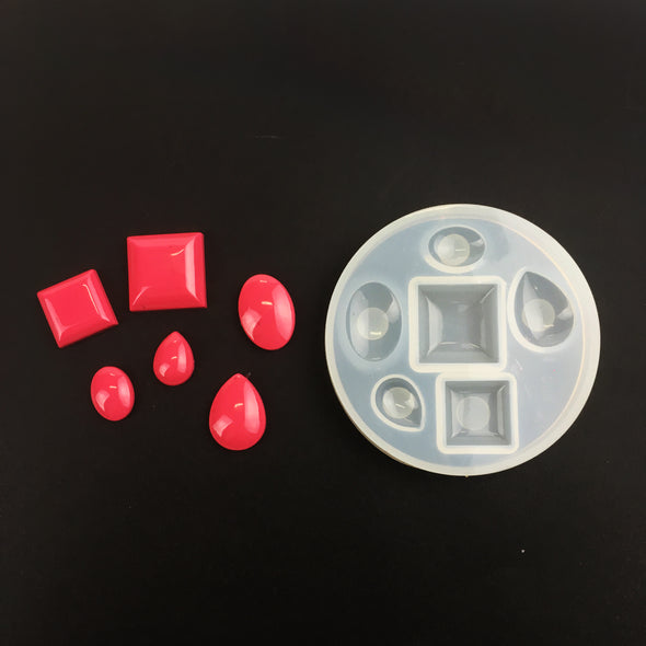 Silicone Gem Moulds - Assorted shaped, mould- Lumin's Workshop