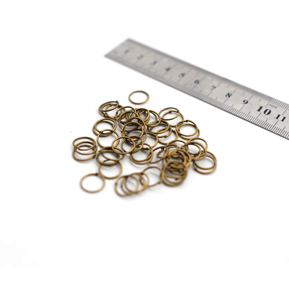 Jump Rings - 12mm - Old Brass - 50g (Approx. 250 Rings)