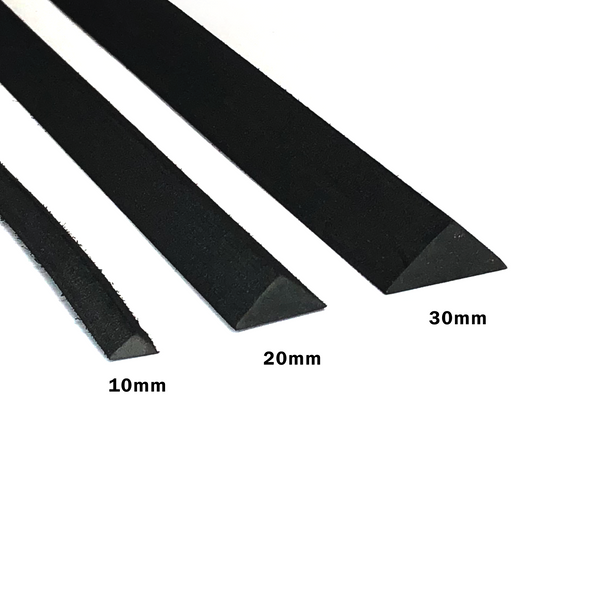 Foam Low Profile Bevel - 1m x (10mm - 30mm Width), Foam Bevel- Lumin's Workshop