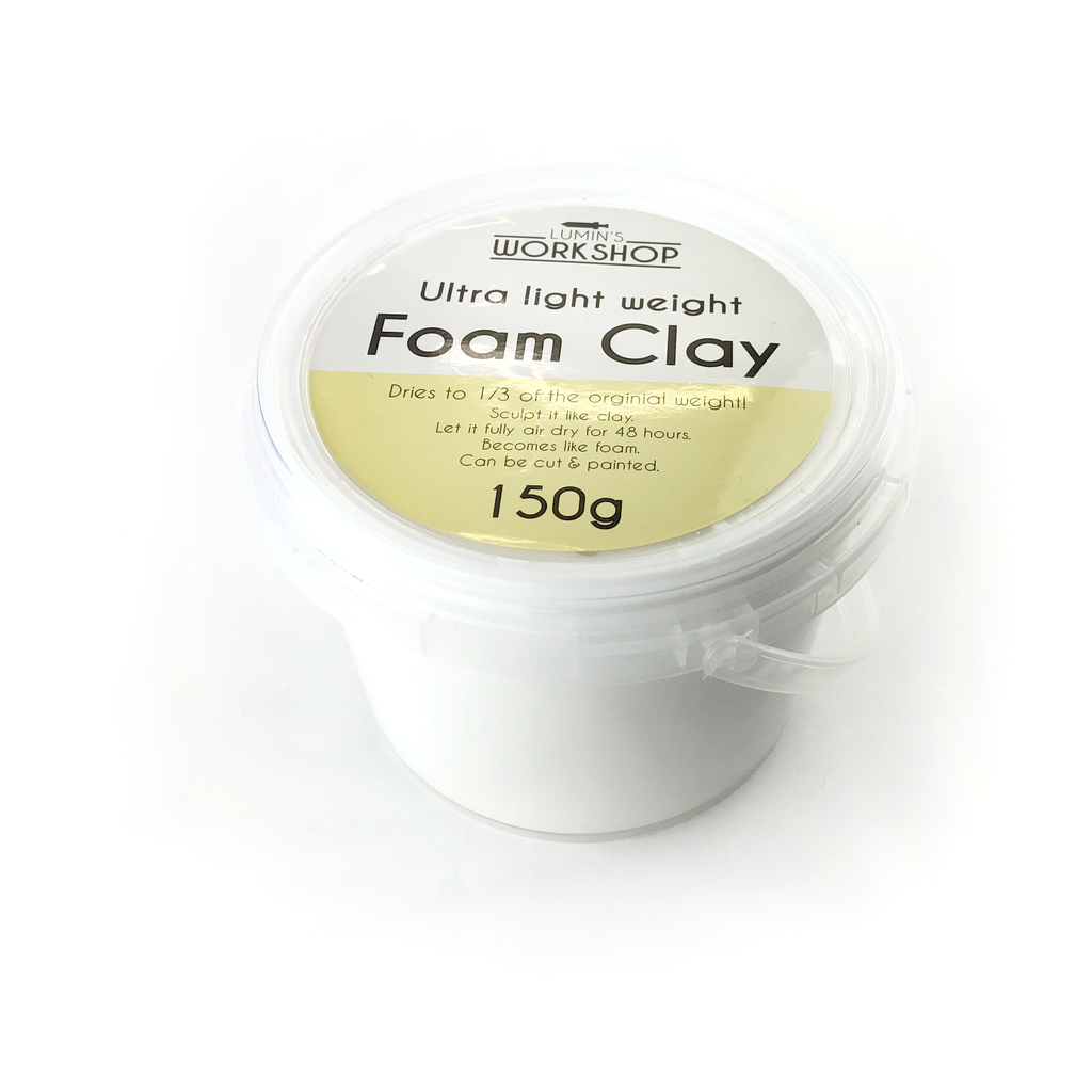 Ultra Light Foam Clay® - 150g - White, Clay- Lumin's Workshop