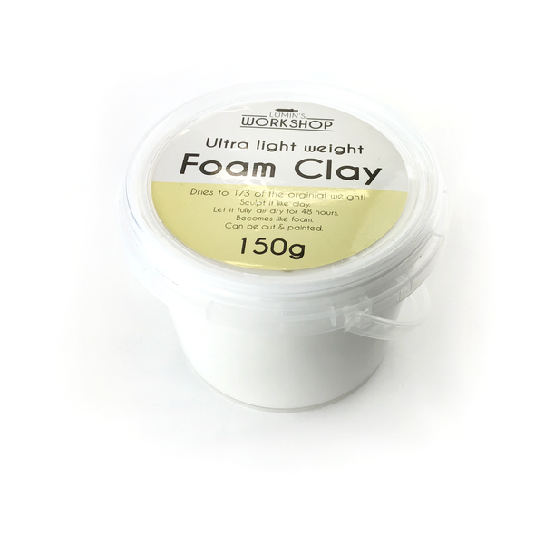 Ultra Light Foam Clay - 150g - White, Clay- Lumin's Workshop