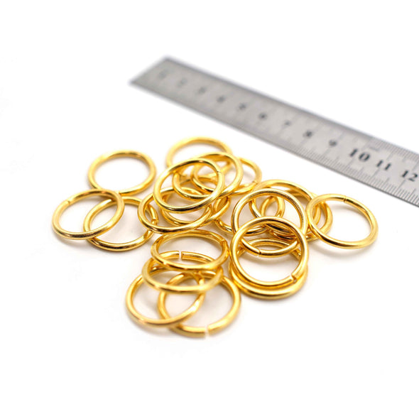 O Rings - 24mm - Gold - Pack of 12