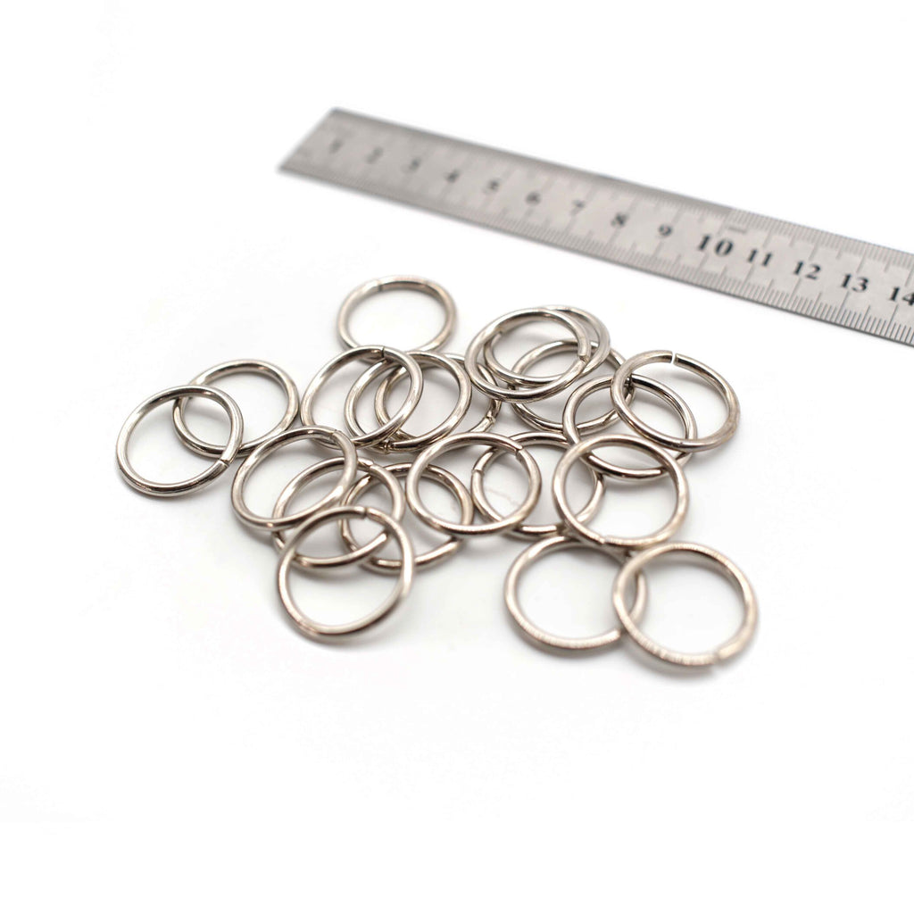 O Rings - 25mm - Silver - Pack of 12
