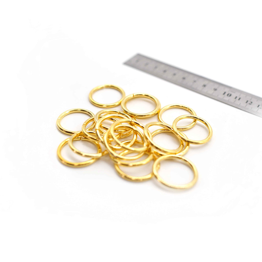 O Rings - 30mm - Gold - Pack of 10