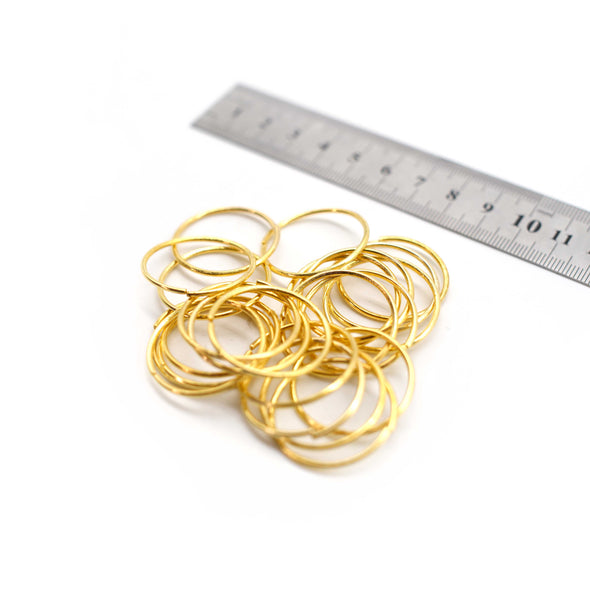 O Rings - 28mm - Gold - Pack of 10 (Thin)