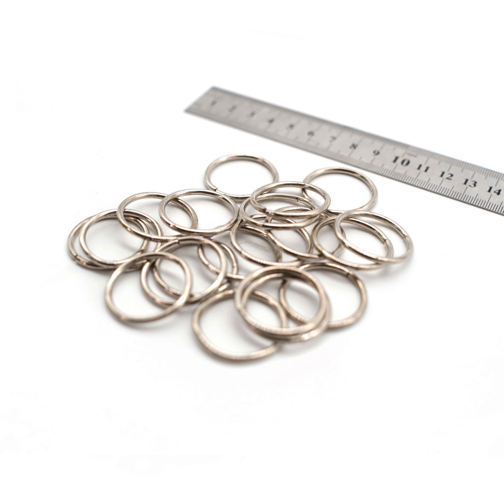 O Rings - 30mm - Silver - Pack of 10 (Thin)