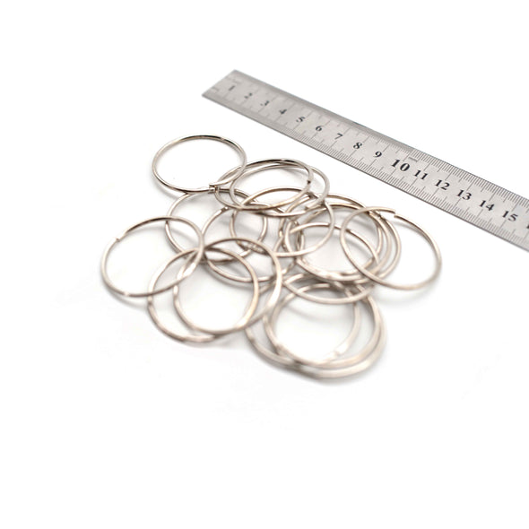 O Rings - 40mm - Silver - Pack of 10 (Thin)