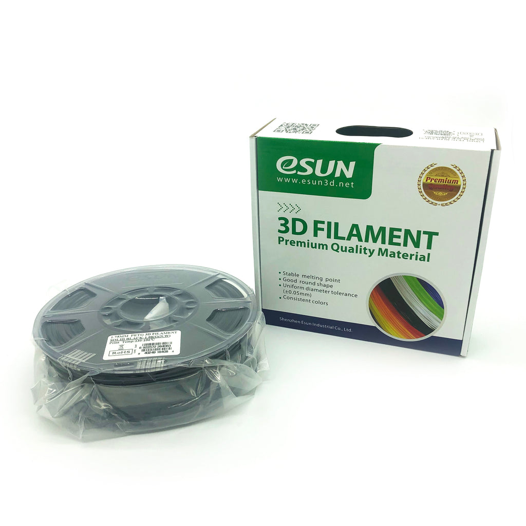 eSun PETG 1.75mm 1kg Roll - Solid Black, filament- Lumin's Workshop