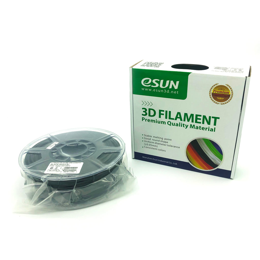 eSun PLA+ 1.75mm 1kg Roll - Black, filament- Lumin's Workshop