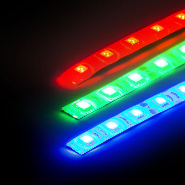 12V LED Strip - RGB (1m), LEDS- Lumin's Workshop
