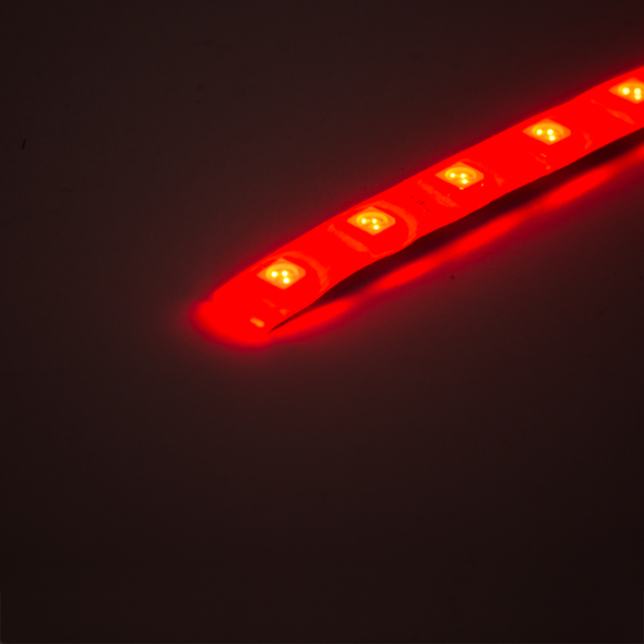 12V LED Strip - Red (1m), LEDS- Lumin's Workshop