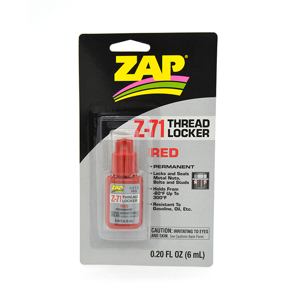 Zap Threadlocker Red - Permanent - 6mL