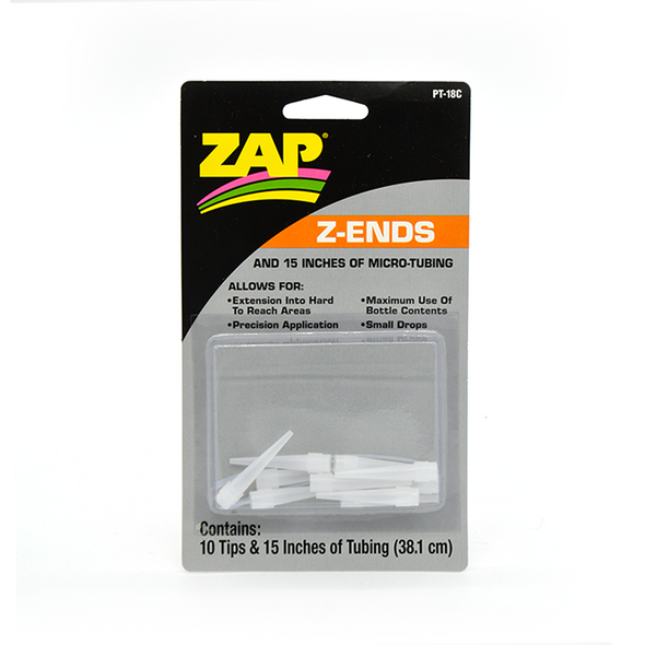 Zap Z-Ends and Tubing - Precision CA Glue Applicators