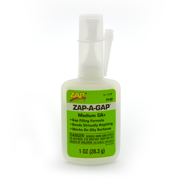 Zap-A-Gap - Gap Filling CA+ Glue - 1oz (28.3g)