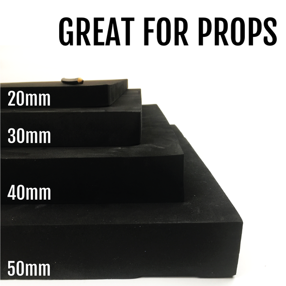 Black EVA Foam Block - 20mm-50mm (50cm x 100cm), Foam- Lumin's Workshop