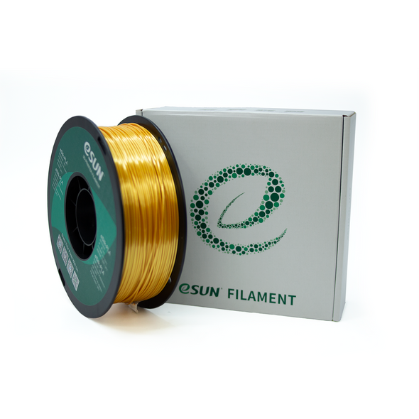 eSun Silk PLA 1.75mm 1kg Roll - Gold, filament- Lumin's Workshop