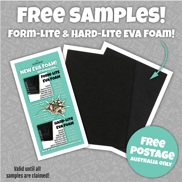 Form-Lite & Hard-Lite EVA Foam Sample pieces (Limit one per person), eva foam- Lumin's Workshop