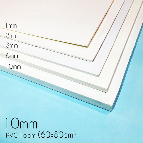 PVC Rigid Foam - 10mm (80 x 60cm), Foam- Lumin's Workshop
