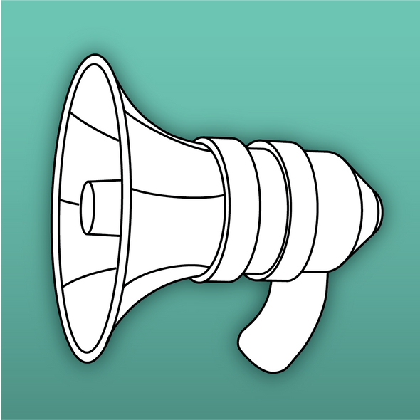 Emergency Meeting Megaphone Template