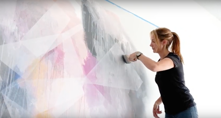 Artist Antoinette Ferwerda Creates A Mural For The Clickon Furniture Abbotsford Showroom