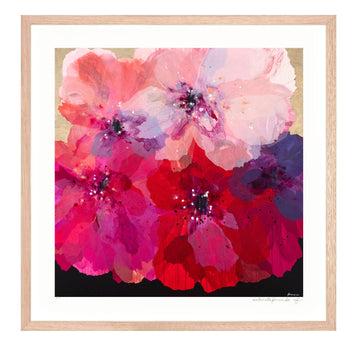 Pink Intuition - small limited edition print - framed