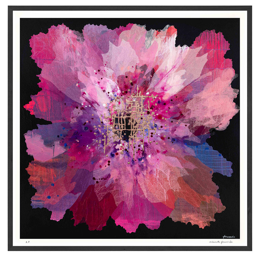 Ruby Orchid Extra Large framed limited edition print