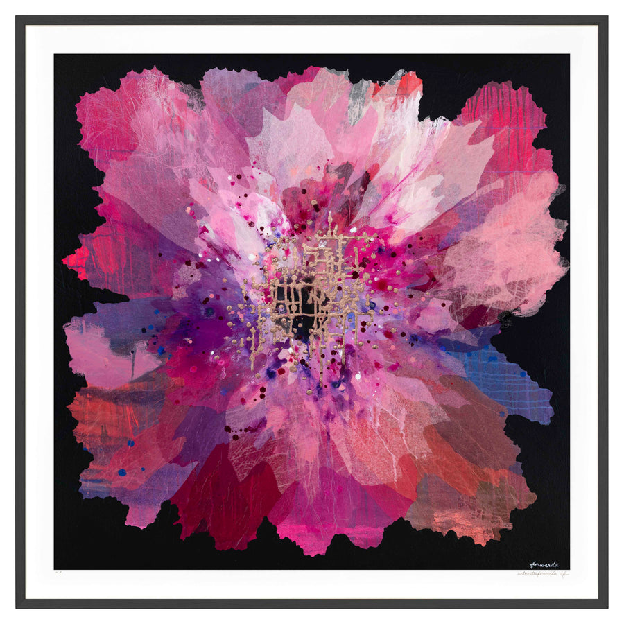 Ruby Orchid Large framed limited edition print