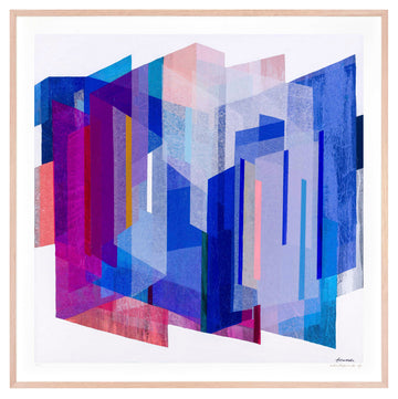 Sapphire Prism Large framed limited edition print