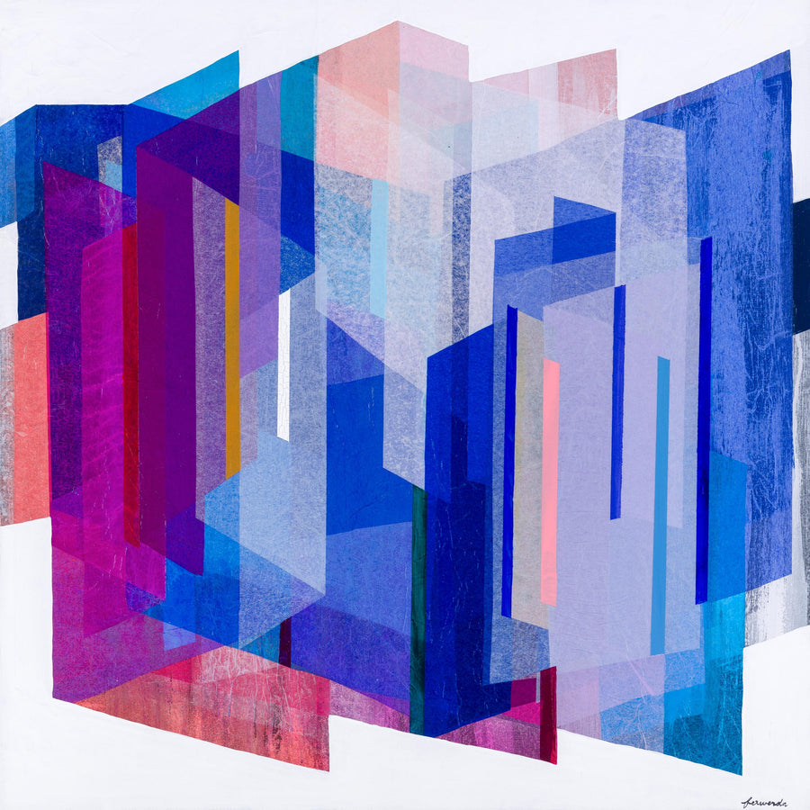 Sapphire Prism - limited edition print - unframed