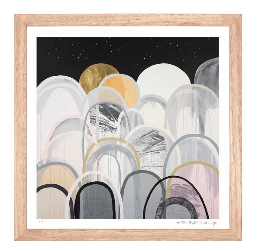 Starscape Hills Extra Small framed limited edition print