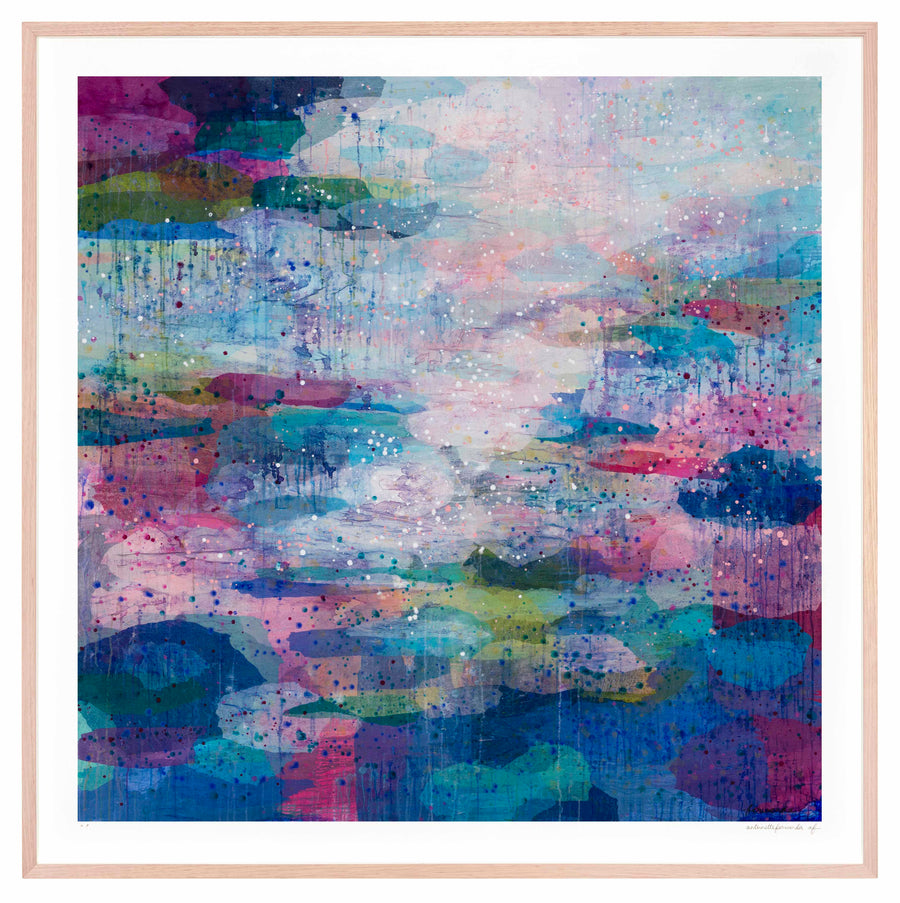 Sunrise Pools Large framed limited edition print