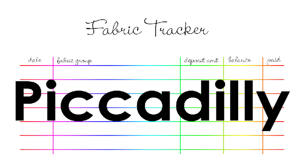 Fabric Tracker Planner Pages