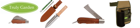 product selection - hori hori knife, folding garden knife, grafting knife, toolbelt
