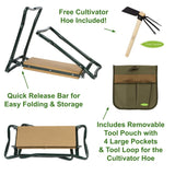 Truly Garden Kneeler/Seat with Cultivator Hoe