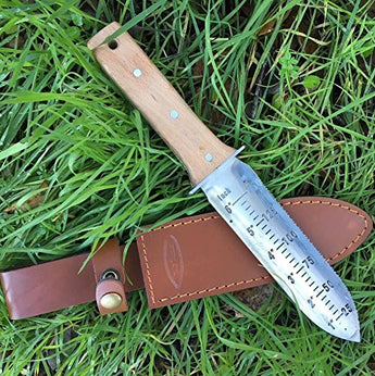 Hori Hori Garden Knife with Leather Sheath and Sharpening Stone