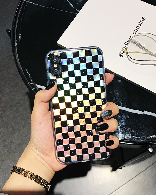 Iridescent Checker Iphone Case - MAGIC PERIOD